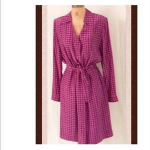 Adrianna Papell vintage  houndstooth silk dress